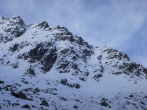 East Ridge of N Buttress of Stob Ban