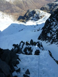 Dorsal Arete, still with a good Snow Cover